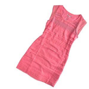 Lavand   peony pink embroidered paneled dress